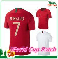 Wholesale Home Wearing - 2018 national team RONALDO PEPE Home Red Soccer Jerseys Shirt,F. COENTRAO Jersey J MOUTINHO MIGUEL Russia Soccer Wear World Cup shirt