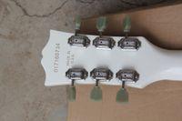 ingrosso chitarre bianche sg-Prezzo di fabbrica Hot Guitar di alta qualità Deluxe SG Standard White Chitarra elettrica 2 Pickups Black Pickguard Spedizione gratuita