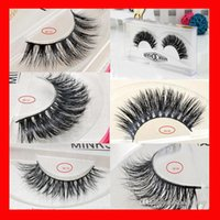 Wholesale Thick Makeup - 15styles 3D Mink False Eyelashes makeup 100% Real Mink Natural Thick False Fake Eyelashes Eye Lashes Makeup Extension Beauty Tools