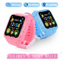 GPS tracker Smart watch K3 Kids Security Smartwatch Camera 2.5D Touch Screen Waterproof Children SOS SIM Anti-Lost Phone Relógios de silicone