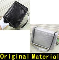 bolsa de mensajero de nylon de las mujeres al por mayor-La bolsa de mensajero de aceite de diseño de piel de cera bolsos mujeres de los bolsos de cadena de metal bolsos de hombro de moda de cuero bolso