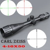 Wholesale Carl Zeiss Rifle Scope - Free shipping Carl Zeiss 4-16x50 White Markings Green and Red Illuminated Riflescopes Rifle Scope Hunting Scope