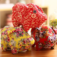 Wholesale toys companies resale online - 20cm Pig Year mascot doll pig year doll plush toy doll business company gift creative simple decoration