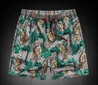 Wholesale snake swimwear - hot snake print BoardShorts Mens Summer g Beach Shorts Pants High-quality Swimwear Bermuda Male Letter Surf Life Men Swim Tiger Shorts 8218