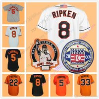 Wholesale Baltimore Xxl - Cal Ripken Jersey Baltimore Cooperstown Brooks Robinson Jim Palmer Eddie Murray Frank Robinson Men Women Youth Home Away Flexbase