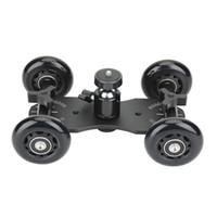 video demiryolu toptan satış-Masa üstü mobil haddeleme kaymak dolly araba patenci video parça raylı sabitleyici spor eylem / yansıtma sistemi / dslr kameralar