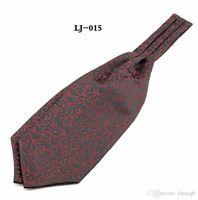 Wholesale men ascot tie - 2018 New Self Tie Wedding Scarf Gravata Cortabata Hombre Hot Paisley Ascot Tie Cravat Men Paisley Polka dots Neck Tie Jacquard Scarf