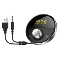 handsfree bluetooth автоответчик оптовых-HY62 Bluetooth AUX Handsfree автомобильный комплект 3.5 мм разъем аудио MP3-плеер беспроводной FM-передатчик авто громкой связи Carkit USB-адаптер