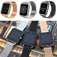 Wholesale gps steel resale online - Bluetooth Smart Watchs Phone Z60 Smart watch Stainless Steel Support SIM TF Card GT08 GT09 DZ09 Smartwatch for IOS Android