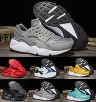 Wholesale popular men shoes brand - 2017 Huarache Running Shoes Men Women White Airlis Huaraches Sports Tennis Men's Women's Popular Zapatillas Deportivas Brands Logos Sneakers