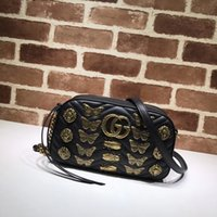Wholesale skull shaped glitter for sale - Top Quality Luxury Brand design Letter Buckle Butterfly insect V shaped Shoulder Chain Bag Cowhide Leather Woman Crossbody Bag