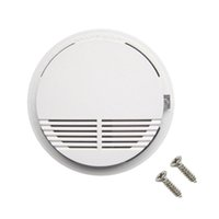 Wholesale smoke detector online - White Wireless Smoke Detector System with V Battery Operated High Sensitivity Stable Fire Alarm Sensor Suitable for Detecting Home Security