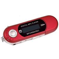 mp3 flash usb sd kartı toptan satış-Mini Taşınabilir USB Flash MP3 Çalar LCD Ekran Desteği Flaş 32 GB TF / SD Kart Yuvası Dijital mp3 müzik çalar