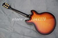 Wholesale guitar 335 sunburst - Vintage Sunburst 335 jazz Hollow guitar Musical Instruments Tremolo