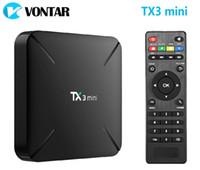 Wholesale android tv 1g resale online - 14pcs TX3 mini L H G G GB GB Amlogic S905W Quad Core Android Smart TV Box TX3mini
