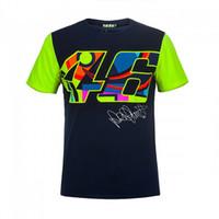 motor moto al por mayor-Moto GP Signature Dark Blue T'shirt Team Racing Motocross Motivo adulto camiseta informal