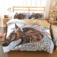 Wholesale horse bedding sets full size for sale - Art Horse Pattern Oil Painting Printed Bedding Sets All Sizes Pillow Case Quilt Cover Duvet Cover