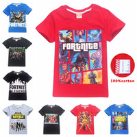 Wholesale kids boy girl style clothing for sale - 63 styles Kids Fortnite T shirt Cotton big Boys Girls Short Sleeve Shirts Summer Clothing Children Tees Clothes