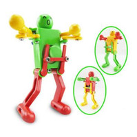 Wholesale walking toys babies - Walking Dancing Robots Toys 360 Degrees Clockwork Wind Up Dancing Robot Toy For Baby Kids Developmental Gift Party Favor CCA10015 200pcs