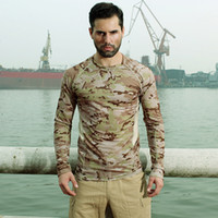 Wholesale tactical camo shirt for sale - Group buy High Elastic Men s Capricorn Camo Quick drying Long sleeved T shirt Jerseys Outdoor Army Training Tactical Breathable Unlined Upper Garment