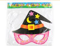 cartoons children Canada - Factory Price Halloween Half Head Party Favor Paper Cartoon Pumpkin Skull Pirate Children Masquerade Mask