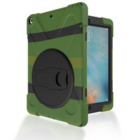 Wholesale protective hard case tablet - Hard Cover Shockproof Heavy Duty Silicone+PC Stand Case for Apple iPad Air Holder Back Cover for ipad 5 Tablet+Pe