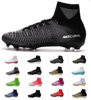 f44c4b8f962b5 2018 Mercurial Barato ACC Superfly V MD FG Mens Sapatos de Futebol Melhor  Venda Botas De Futebol Mercurial Superfly Homens Sapatos De Futebol Top  Chuteiras ...