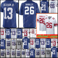 Wholesale barkley jersey for sale - New York Giants Saquon Barkley Odell Beckham Jr Jersey Men s Eli Manning Landon Collins Marshall Football Jerseys