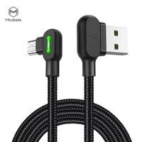 led cable оптовых-Светодиодный микро USB-кабель для ноутбука McDodo для Android Samsung Xiaomi Huawei Зарядное устройство USB Быстрое зарядное устройство для передачи данных