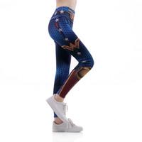 a690df1ddd8 High Waist Women Yoga Pants Fitness Leggings Wonder Woman Stretch Sports  Pants Exercise Workout Clothes Drop ship Plus Size