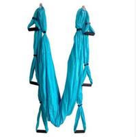 ingrosso swing inversione yoga-Forza Decompressione yoga Amaca Inversione Trapezio Anti-gravità Trazione aerea Yoga Palestra cinghia yoga Altalena set Proteggi il polso