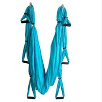 Wholesale yoga swing for sale - Group buy Strength Decompression yoga Hammock Inversion Trapeze Anti Gravity Aerial Traction Yoga Gym strap yoga Swing set Protect wrist