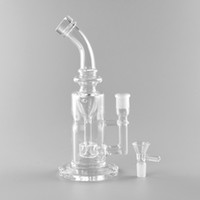 Wholesale tabacco bongs - Good quality oil rigs glass bongs water bongs clean color for tabacco use with 10 inches 14mm female joint
