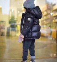 Wholesale winter feather jacket girls - free shipping 2018 new coming 90% duck feather Ultra light Boys Girls children's Autumn Winter jackets Baby down coat Jackets outerwear