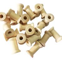 fouettage de jouets achat en gros de-Outils de couture en bois Vintage Bobines de fil vide Notions de couture pour poupées Ornements Compétences de la vie Artisanat Jouets 100pcs / Lot