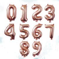 ingrosso numeri di compleanno-40 pollici Oro rosa Lettera Numero Palloncini foil Cifre a elio a cifre grandi Ingredienti per matrimoni Compleanni per feste Baby Shower