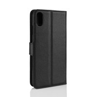 3g cüzdan toptan satış-Yeni Litchi Desen Çevirme Manyetik PU Deri Cüzdan Kılıf Samsung A9 A8 Yıldız Moto E5 Oynamak Için iPhone xs max XR Alcatel U3 3g Lychee tahıl