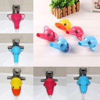 Wholesale baby extender resale online - Happy Fun Animals Faucet Extender Baby Kids Hand Washing Bathroom Sink Gift style Baby Tubs