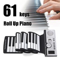 Wholesale 61 key piano resale online - New arrival Portable Keys Electronic Digital Roll Up Roll Up MIDI Soft Piano Keyboard with retail package