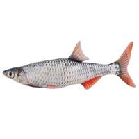nette karikaturfische großhandel-1 stück 30 cm Nette Simulation Karausche Fisch Plüschtier Gefüllte Cartoon Tier Fisch Kissen Kleine Fisch Puppen Valentines für BabyKids