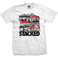 nova roupa punk venda por atacado-DGK homens empilhados camiseta branca T Hip-Hop punk dinheiro dólar vestuário vestuário 2017 novos lazer moda t-shirt homens algodão mangas curtas