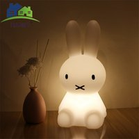 Wholesale rabbit lamps - New Style Rabbit LED Night Light For Children Baby Kids Bedside Lamp Silicone Touch Sensor Nightlight Home Decoration
