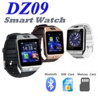 Wholesale watches memory cards - DZ09 Smart Watch Bluetooth Smartwatch with SIM Card Slot and External Memory Support Wristband Health Watch for Android IOS Retail Package