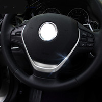 Chrome ABS Steering Wheel Trim Strips For BMW 1 3 series F30 F20 118i 316i Car Styling Interior Accessories
