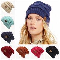 Wholesale Decoration Cap - 22*23cm Multicolor Unisex Hat CC Beanie Winter Hats Soft cc Beanies Slouchy Skull Caps Trendy Outdoor Hats Headwear Hip-hop Skully Bonnet