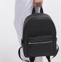 kahverengi pu deri kadın sırt çantası toptan satış-Moda Yüksek kalite Yeni Moda Ünlü Marka Sırt Çantaları Siyah Kahverengi Kadın Erkek Çanta kadın PU Deri Bayanlar Seyahat Çantası