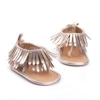 baby sandalen großhandel-Entzückende Baby Mädchen Sommer Quaste Sandalen Kleinkind Baby Prinzessin weiche Sohle Schuhe Sandalen