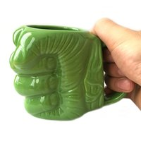 Wholesale unique s - Originality Marvel Hero The Incredible Hulk 'S Fist Gift Packing Green Giant Film Cool Cup Ceramics Beer Coffee Tea Unique Mugs