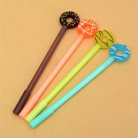 Wholesale stationery for kids free shipping resale online - 1Pcs Cute Lollipop Donuts Gel Pen mm Candy Color Writing Pen For Kids Stationery Gift School Supplies
