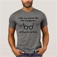 anti-rugas venda por atacado-2018 Mens Streetwear Camiseta de Algodão Homem Cômico Óculos Contornos T Shirt Homens Anti-Rugas T-Shirt dos homens